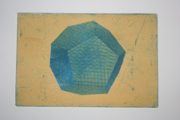 Dodecahedron - drypoint, aquatint with surface roll