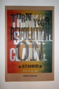 Turn Your Revolution On (StaHHr) - letterpress