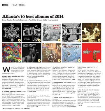 CL 2014 10 best ATL albums