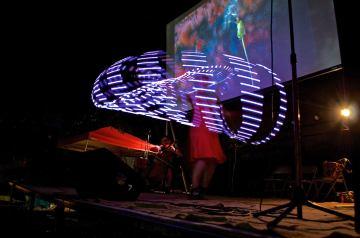 "Art on the Atlanta Beltline live performance of multimedia show ""Dandelion's Voyage"" in September 2015. Photo credit: John Becker"